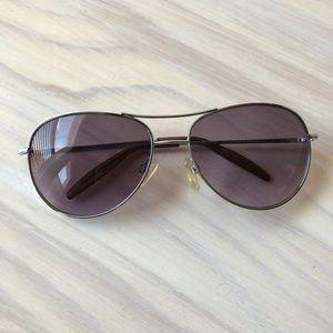 Aviator Sunglasses Thin Frame Shades w/ Pouch